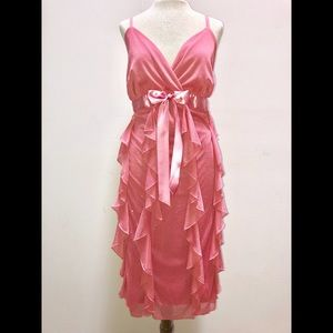 ✨Sparkly✨ Fun 🌸Pink🌸 Ruffled Party Dress